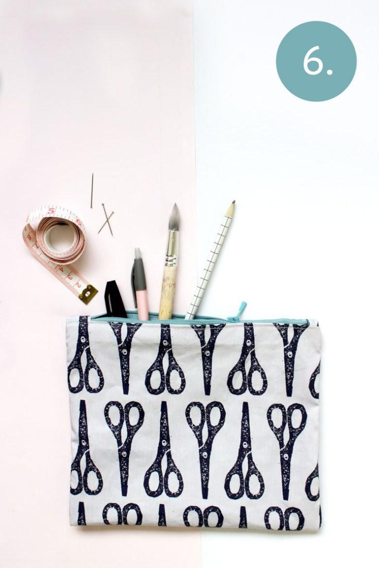 DIY pencil case - step 6