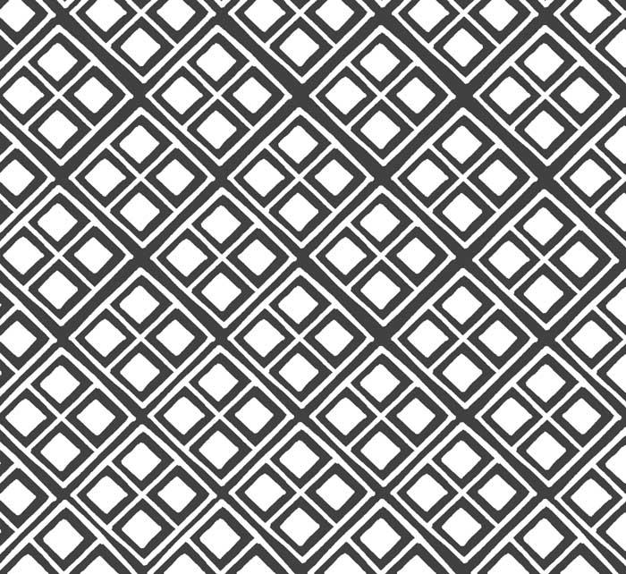 Grafisch zwart-wit behang