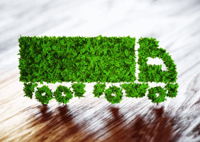 Na imagem, um desenho de um caminhão composto por plantas simboliza a importância do ARLA 32 no impacto ambiental.