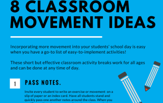 Classroom Movement Ideas Infographic