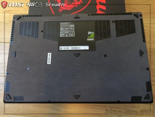 Dessous du MSI GS63 7RD Stealth