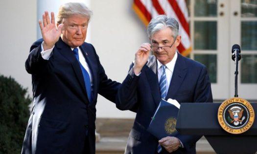 Donald Trump avec Jerome Powell