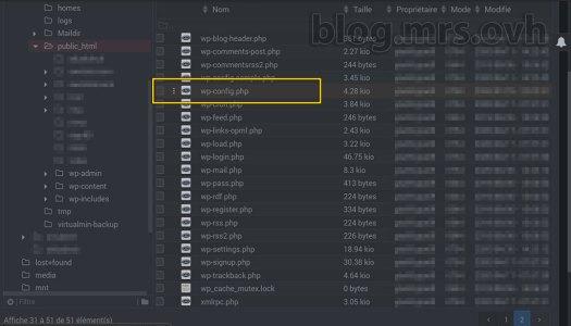 webmin - gestionnaire de fichiers