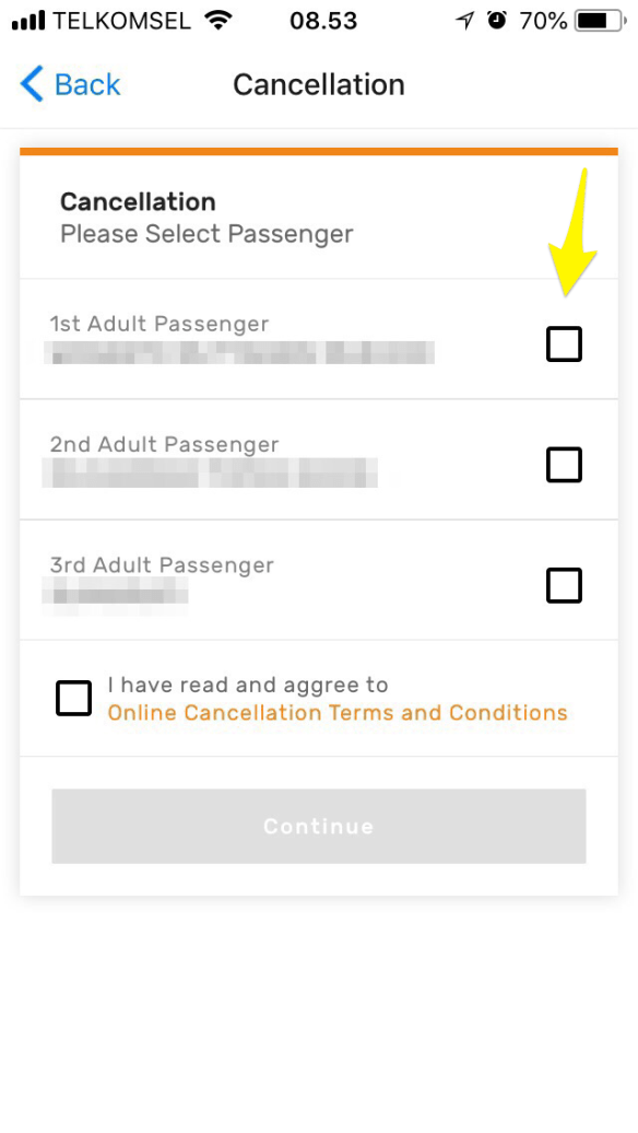 Pembatalan Tiket Kereta Api via Aplikasi KAI Access Langkah 4