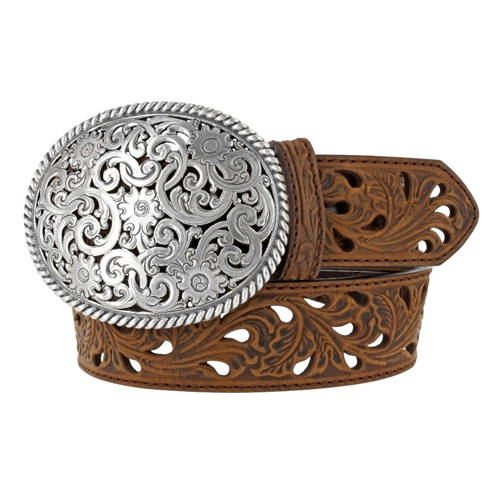 Tony Lama Filigree Buckle Belt
