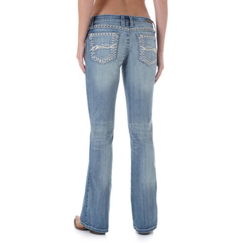 Light stone-washed Wrangler jeans