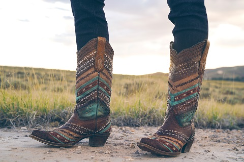 Turquoise studded Corral boots