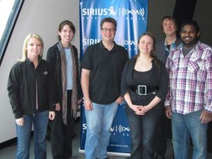 Rachel Johnson, Casey Henry, Ned Luberecki, Brandi Hart, Buddy Woodward, and Sav Sankaran at the Sirius/XM studio in Nashville.