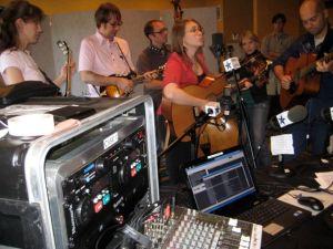 Casey Henry, Buddy Woodward, Jeremy Darrow, Brandi Hart, Rachel Johnson and Robin Davis in WAMU's remote studio in the Renaissiance Hotel in Nashville, TN.