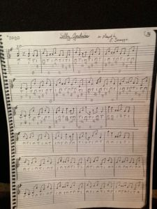 Original copy of Bill Keith's tab to Sally Goodwin! (I asked him to send me this!)
