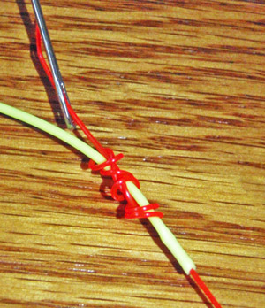 Tying the nail knot