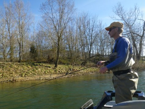 Fly Fishing for Bass in April