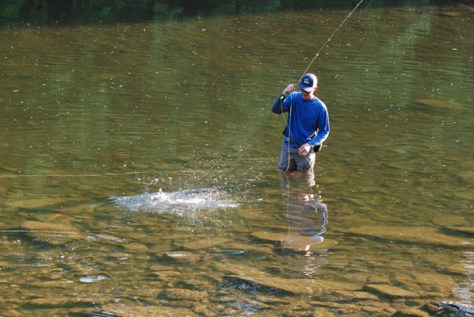 Switch Fly Fishing Lines while standing mid-river. Murray's Fly Shop Fly Fishing Tips