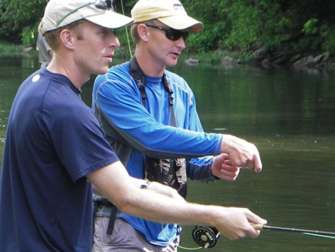 Jeff Murray On The Stream Fly Fishing Schools Murray's Fly Shop Virignia