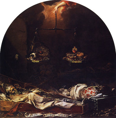 Juan de Valdés Leal, Finis gloriae mundi, 1672. Hospital de la Caridad de Sevilla.