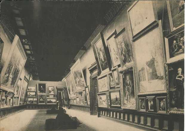 Una de les sales de l'Exposició Universal de 1888, Palau de les Belles Arts.