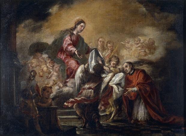 Juan Valdés Leal, Imposició de la casulla a sant Ildefons, c. 1661, Museu Nacional d'Art de Catalunya.