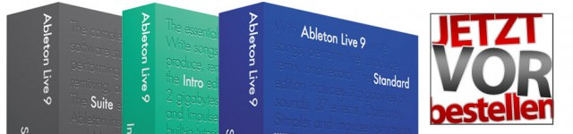 Ableton LIVE9 ab 5. März