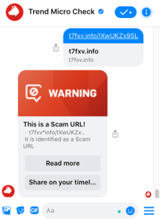 Use Trend Micro Check for free and immediate scam detection.