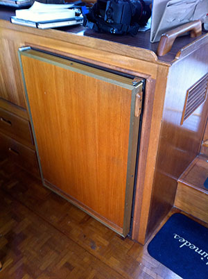 Old aft fridge