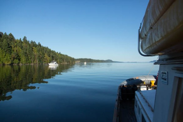 mv Archimedes James Bay morning