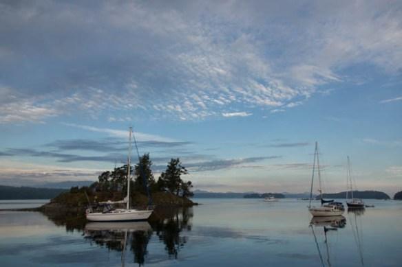 mv Archimedes Wallace Island Sunrise 1