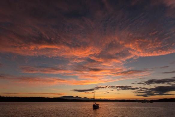 mv Archimedes Wallace Island Sunset 3