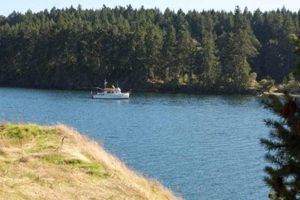 mv Archimedes anchored in James Bay