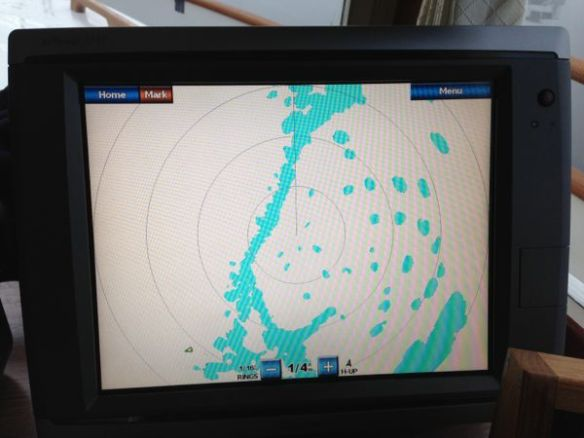 mv Archimedes foggy Montague morning radar