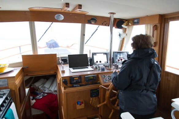 mv Archimedes Kim at the helm 1