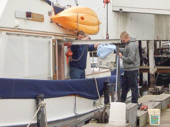 mv Archimedes Gallery Marine installing the generator 2