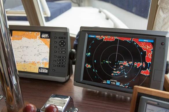 mv Archimedes Garmin 24 xHD radar display 1