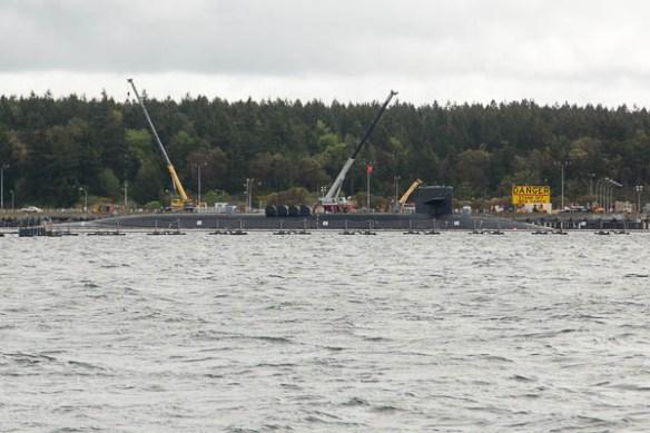 mv Archimedes submarine at Indian Island