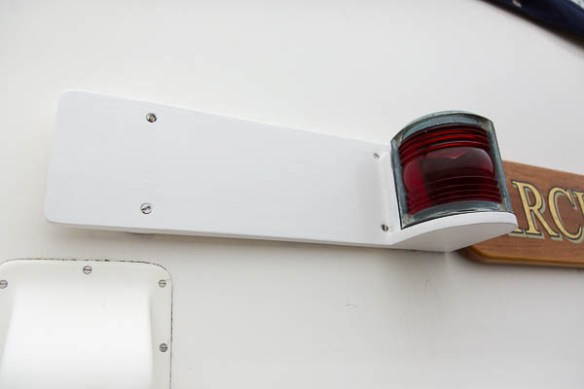 mv Archimedes nav light boards installed