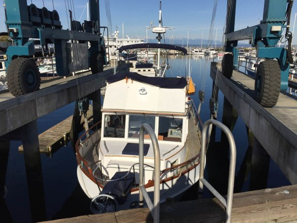 mv Archimedes Seaview West Boatyard haulout 1