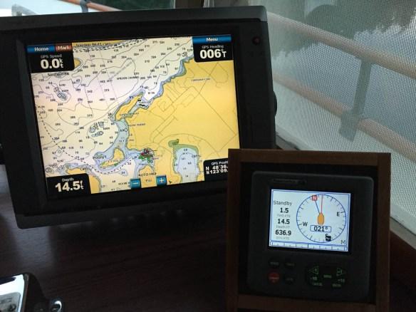mv Archimedes calm wind in Roche Harbor