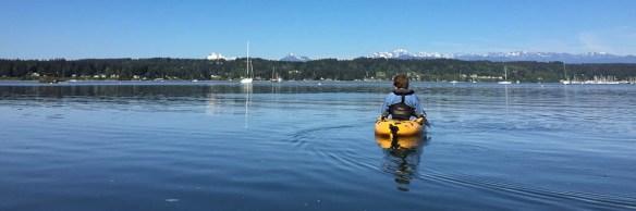 mv Archimedes kayaking Liberty Bay 1