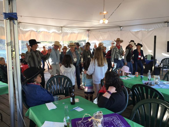 mv Archimedes line dancing at the PSGBOA rendezvous