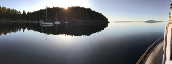 mv Archimedes sunset at Jones Island