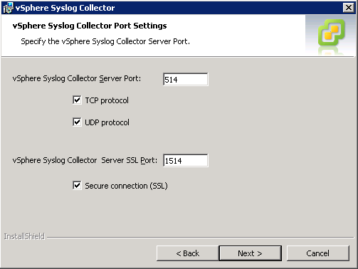 vSphere Syslog Collector - Install and Configure