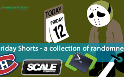 Friday Shorts – PowerCLI, Scale Computing, vMA replacement and Go Habs Go!
