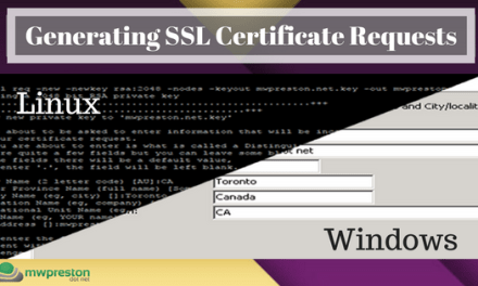 Generating a CSR in Windows & Linux