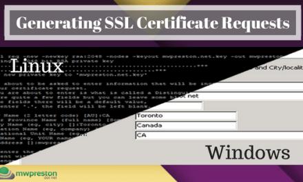 Generating a CSR in Windows & Linux