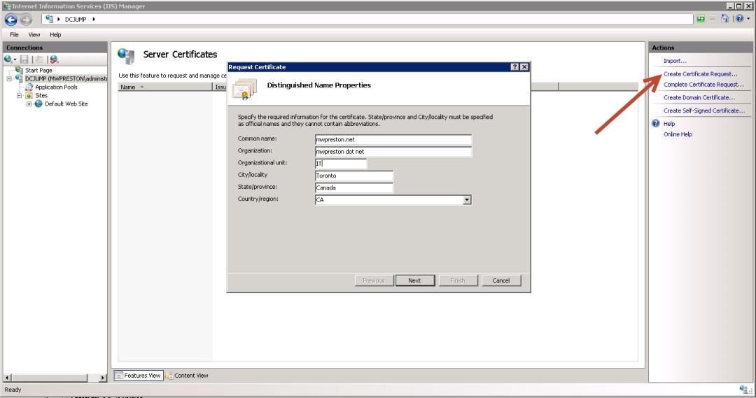 Generating a CSR in Windows & Linux - mwpreston net