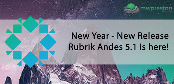 New Year – New Release – Rubrik Andes 5.1