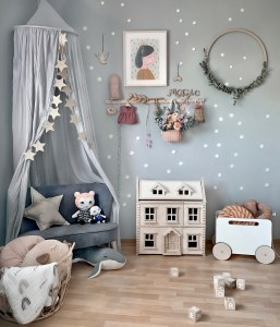 Fantasyroom Blog: Die schönsten Instagram Kinderzimmer - Spielecke im grauen Mädchen Kinderzimmer