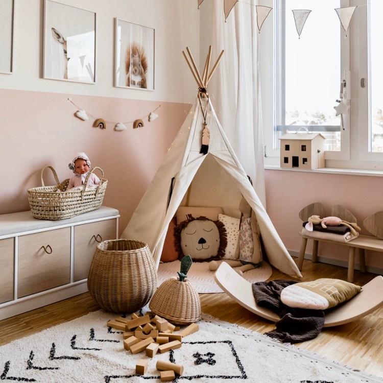 Fantasyroom Blog: Die schönsten Instagram Kinderzimmer - Spielecke mit Tipizelt
