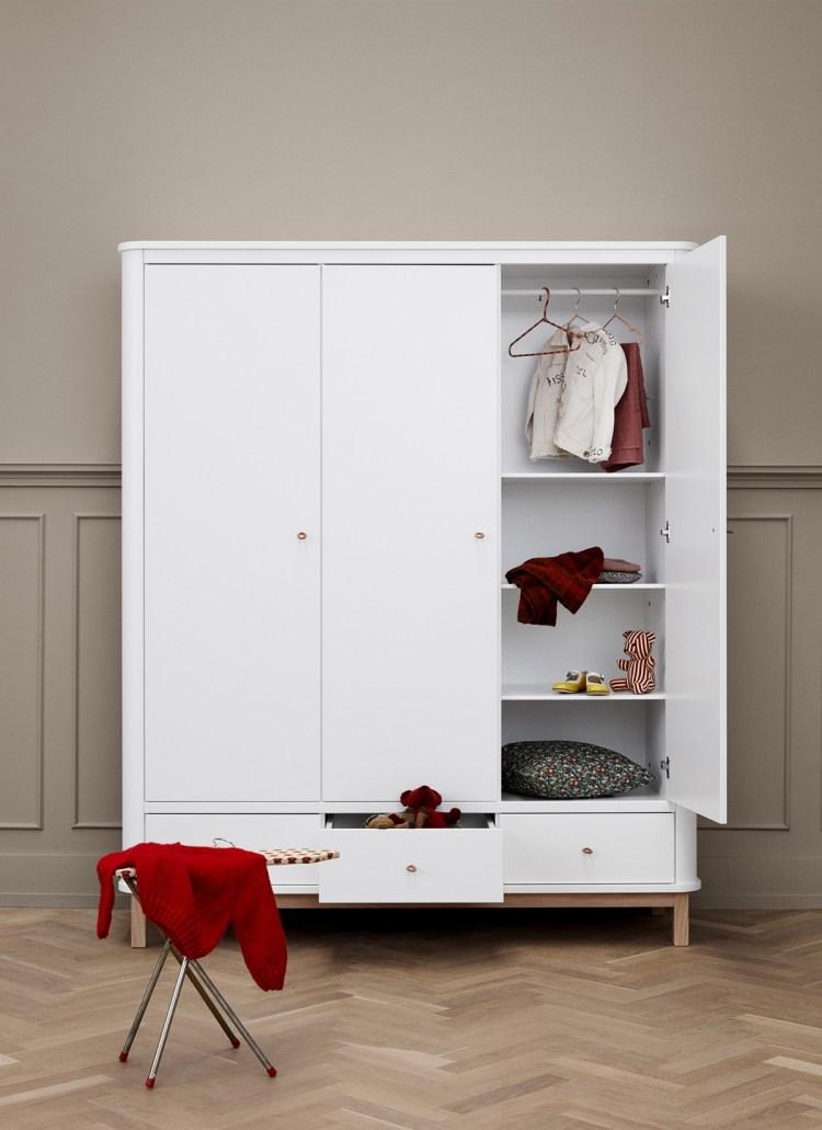 3-türiger Kleiderschrank 'Wood' von Oliver Furniture