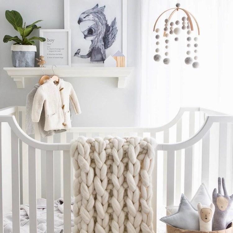 Babyzimmer in neutralen Farben