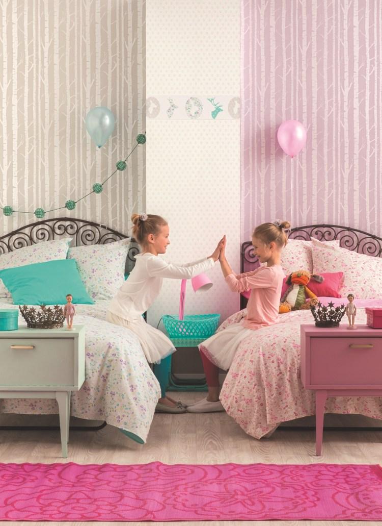 Baum-Kindertapeten für Mädchenzimmer von Caselio